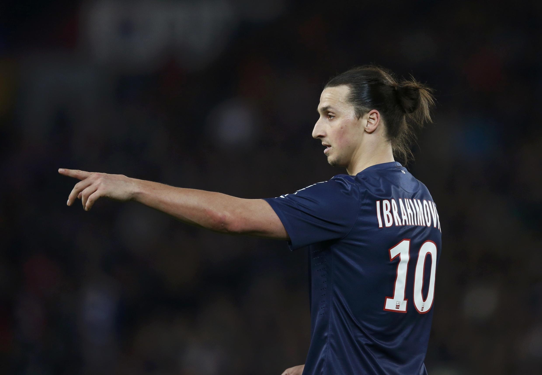 Dan wasan PSG, Zlatan Ibrahimovic.