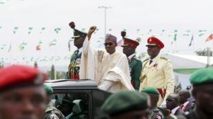 Le nouveau président nigérian Muhammadu Buhari lors de son investiture à Abuja, le 29 mai 2015.
