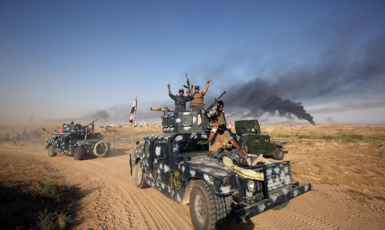 Quân đội Irak áp sát thành phố Fallouja, chuẩn bị mở tấn công  thành trì của IS ngày 21/05/2016.