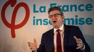 Making a stink: France Unbowed leader, Jean-Luc Mélenchon.