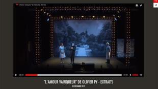 «L'Amour vainqueur» au Festival d'Avignon (capture d'écran).