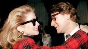French actress Catherine Deneuve enjoyed an intense 40-year friendship with late designer Yves Saint Laurent