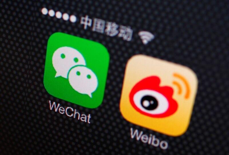 Logo của WeChat, Vi Bác. Ảnh minh họa.