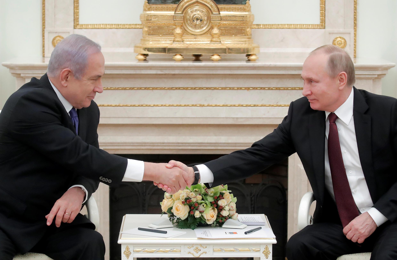 بنیامین نتانیاهو و ولادیمیر پوتین بیست و هفتم فوریه کاخ کرملین