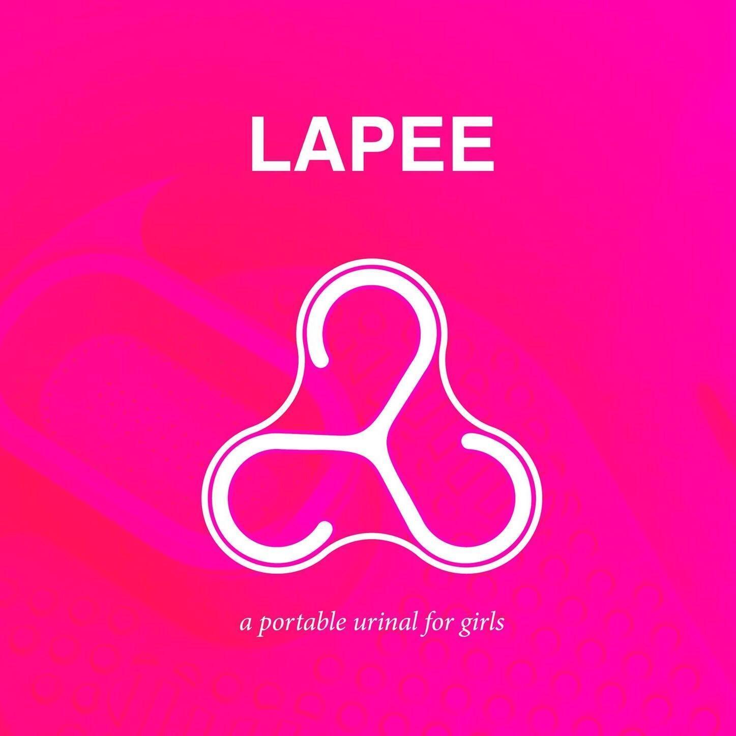 Logomarca do urinol feminino Lapee, criado pela arquiteta francesa Gina Perier, na Dinamarca