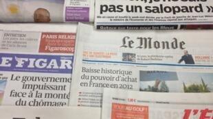 Primeiras páginas diários franceses 27/3/2013