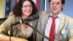 Bruno des Grottes y Luz Alies Guinard en RFI.