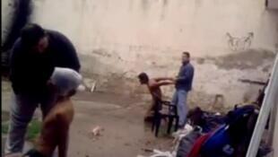 Imagen del vídeo de la comisaría salteña