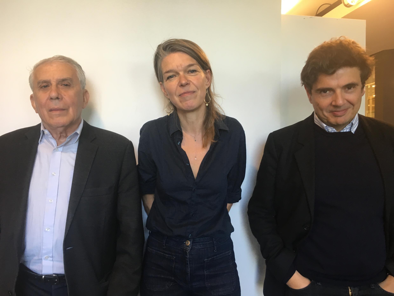 Les invités de cette spéciale consacrée à Ingmar Bergman, de gauche à droite, Jean Narboni, Isabelle Rèbre et Nicolas Saada.