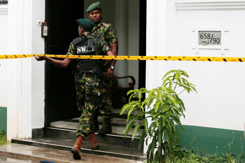 Les forces spéciales sri-lankaises à Colombo, au Sri Lanka, le 21 avril 2019.
