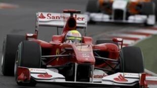 Felipe Massa, da Ferrari, durante os treinos deste sábado para o GP da Austrália.