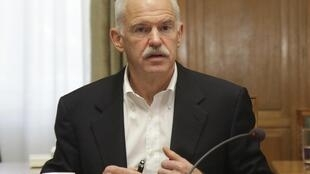 O premiê grego, George Papandreou.