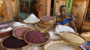 Dans un marché en Zambie.
