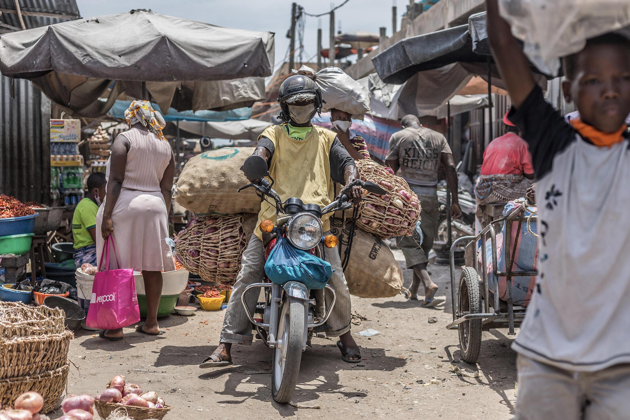 Kasuwar Cotonou a jamhuriyar Benin