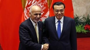 Tổng thống Afghanistan Asharaf Ghani và Thủ tướng Trung Quốc Lý Khắc Cường tại Bắc Kinh hồi tháng 10/2014.