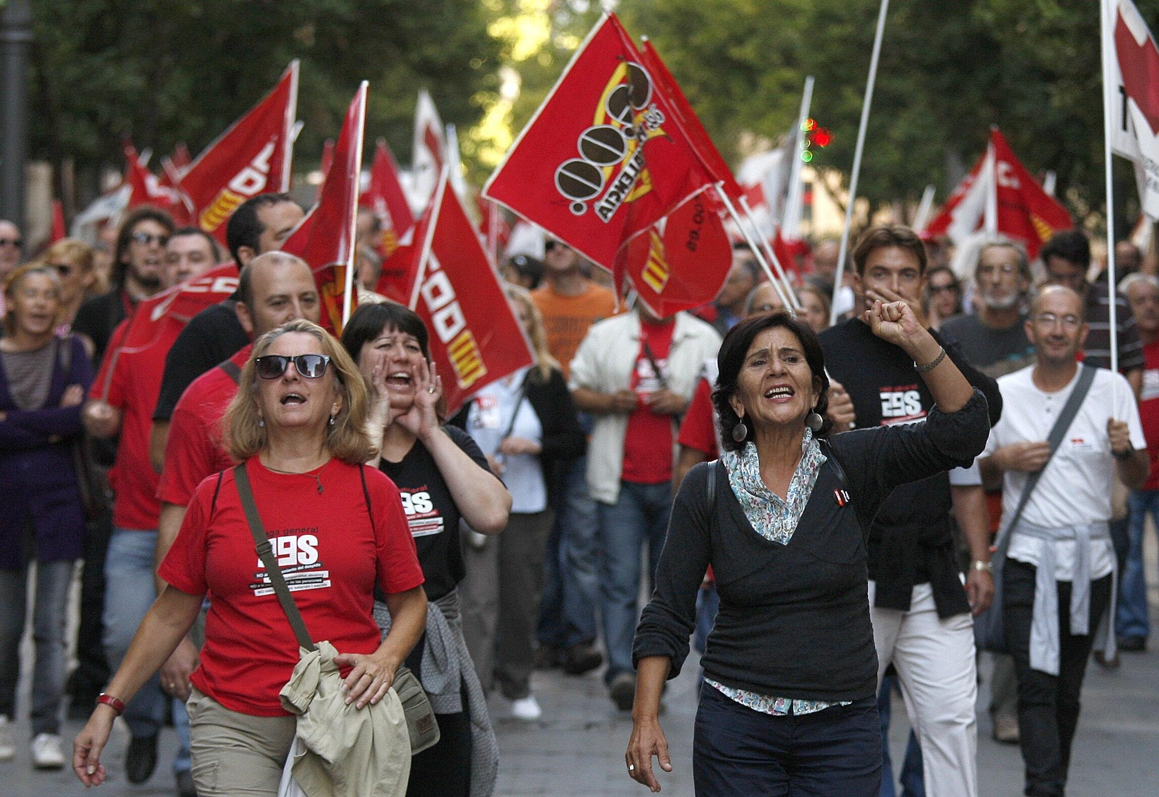 Biểu tình tại Valencia, Tây Ban Nha , phản đối kế hoạch khắc khổ, ngày 29/09/2010