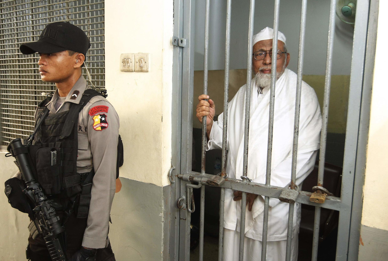 Abu Bakar Bashir waiting for the verdict