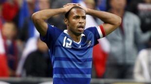 L'attaquant français Thierry Henry.
