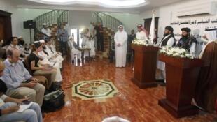 Lễ khai trương Văn phòng Chinh trị Taliban Afghanistan tại Doha, Qatar, ngày 18/06/2013