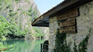 Les gorges sauvages de Matka sont le lieu de détente des Skopjotes le week-end.