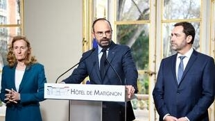 法国总理菲利普宣布维护治安新措施;一些街区将被禁示威游行        2019年3月18日
