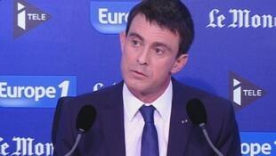 El primer ministro francés, Manuel Valls, entrevistado en la radio Europe1 este domingo, alertó sobre la anunciada victoria del Frente Nacional en los comicios departamentales del 22 y 29 de marzo próximo.