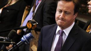 O primeiro-ministro britânico, David Cameron, durante a cúpula de Bruxelas.