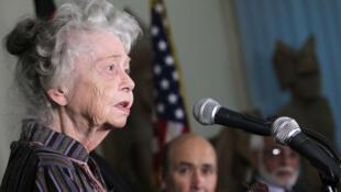 L'historienne américaine Nancy Hatch Dupree est née dans l'Etat de New York en 1927. Elle est morte à Kaboul le 10 septembre 2017.  Elle a consacré la majeure partie de sa vie à préserver le patrimoine de l'Afghanistan. Photo prise le 17 septembre 2012.