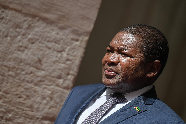O Presidente de Moçambique, Filipe Nyusi  em  Julho de 2019.