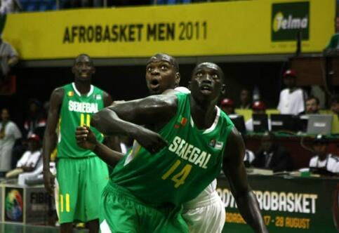 Le Sénégalais Malick Badiane prêt pour les huitièmes de finale de l'Afrobasket 2011.