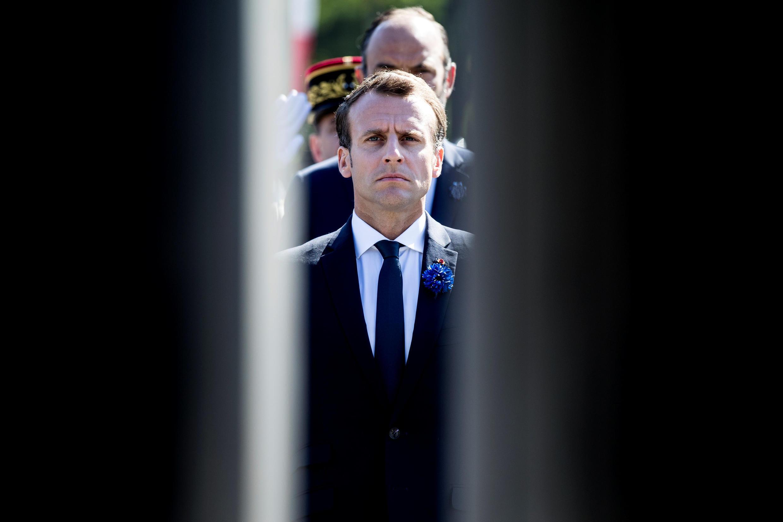 El presidente francés el 8 de mayo durante la conmemoración de la capitulación alemana de 1945..