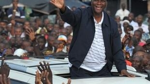 Former prime minister and Côte d'Ivoire presidential candidate Alassane Ouattara