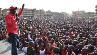 Naibu rais William Ruto akiwahotubia wafuasi wake jijini Nairobi Juni 20 2017