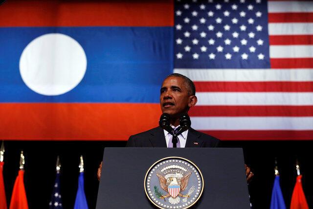 Le président américain Barack Obama en visite au Laos, le 6 septembre 2016.