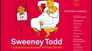 L'affiche de «Sweeney Todd, le diabolique barbier de Fleet Street».