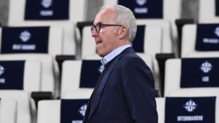 Le propriétaire américain de l'Olympique de Marseille, Frank McCourt, avant le match de Ligue 1 face à Nice, au Vélodrome, le 10 mars 2020
