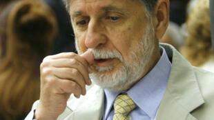 O ministro brasileiro de Relações Exteriores do Brasil, Celso Amorim.