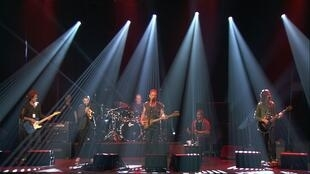 Rock star Sting performs at the Bataclan concert hall in Paris on Saturday one year after the deadly attacks in the French capital.