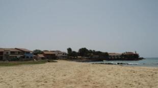 Vista panorâmica de Santa Maria, na Ilha do Sal, em Cabo Verde