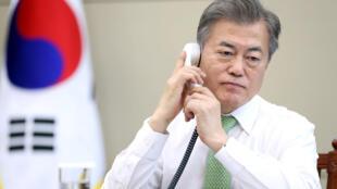 Le président Moon Jae-in, en mai 2018 à Séoul.