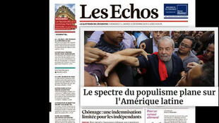 """""""Se for inocentado, sua candidatura pode ganhar ainda mais força"""", prevê o correspondente do jornal Les Echos no Brasil."""
