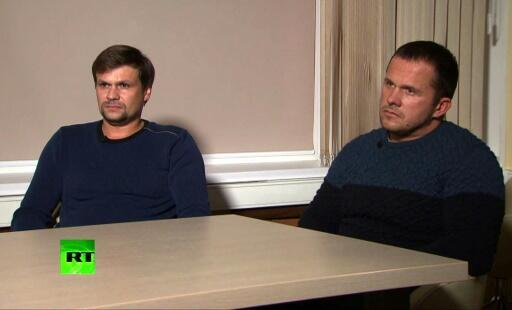 Two men identified as Alexander Petrov and Ruslan Boshirov said in an interview with Russian channel RT that they had just visited Britain as tourists