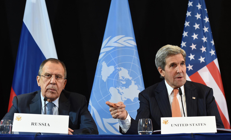 John Kerry et Serguei Lavrov, à Munich, le 12 février 2016.