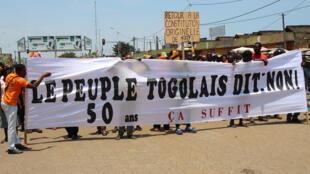 Une manifestation de l'opposition demandant le départ du président Faure Gnassingbé, le 20 septembre 2017 à Lomé (image d'archives).