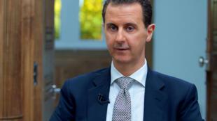 敘總統阿薩德接受法新社採訪2012年4月12日
