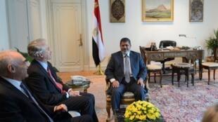 Le président égyptien Mohamed Morsi, au Caire, en Egypte, le 8 juillet 2012.