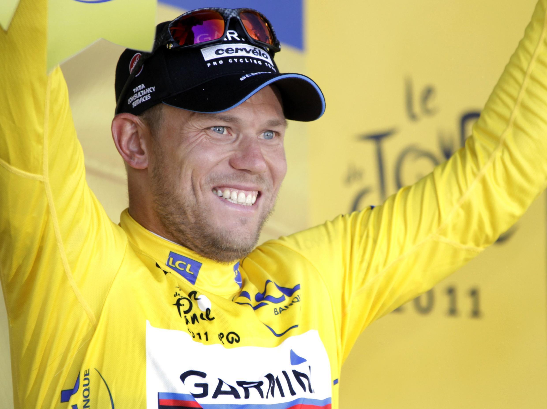 Тор Хусховд, норвежский велогонщик, чемпион мира - обладатель желтой майки лидера после трех этапов Тур де Франс