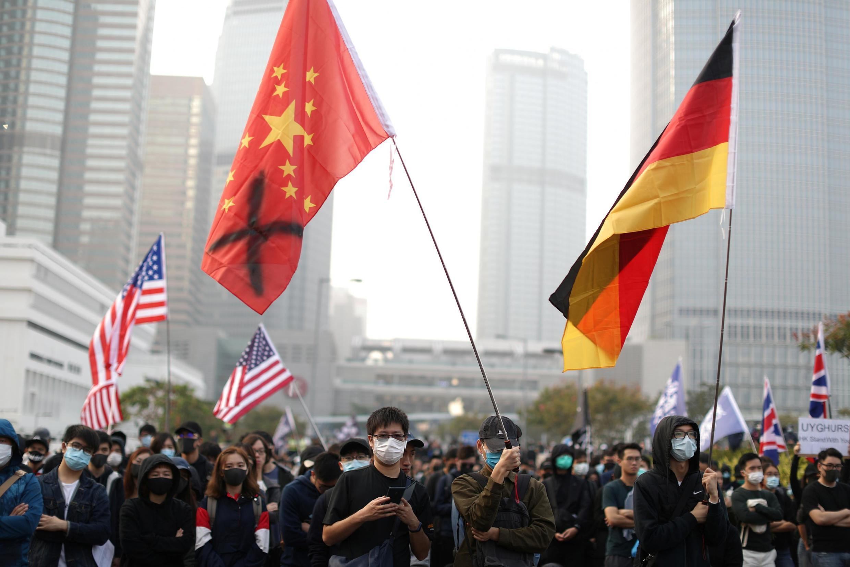 Người Hồng Kông xuống đường ủng hộ người Duy Ngô Nhĩ Tân Cương, ngày 22/12/2019.