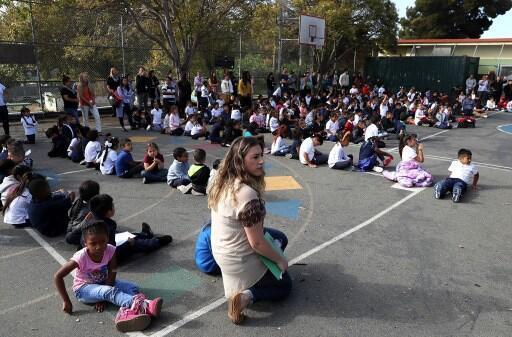 Une cour d'une école primaire à San Francisco. (Photo d'illustration)