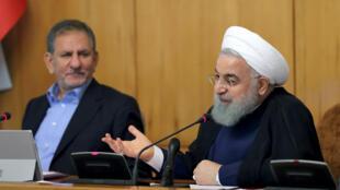 حسن روحانی، رئیس جمهور ایران روز چهارشنبه ۲۴ مرداد/ پانزدهم اوت در جلسه هئیت دولت